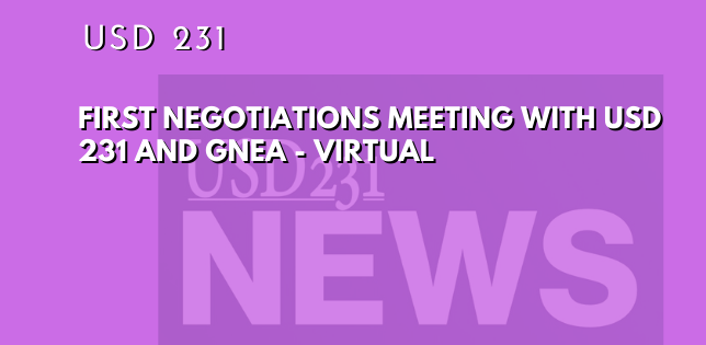 First Negotiations Meeting Live Stream