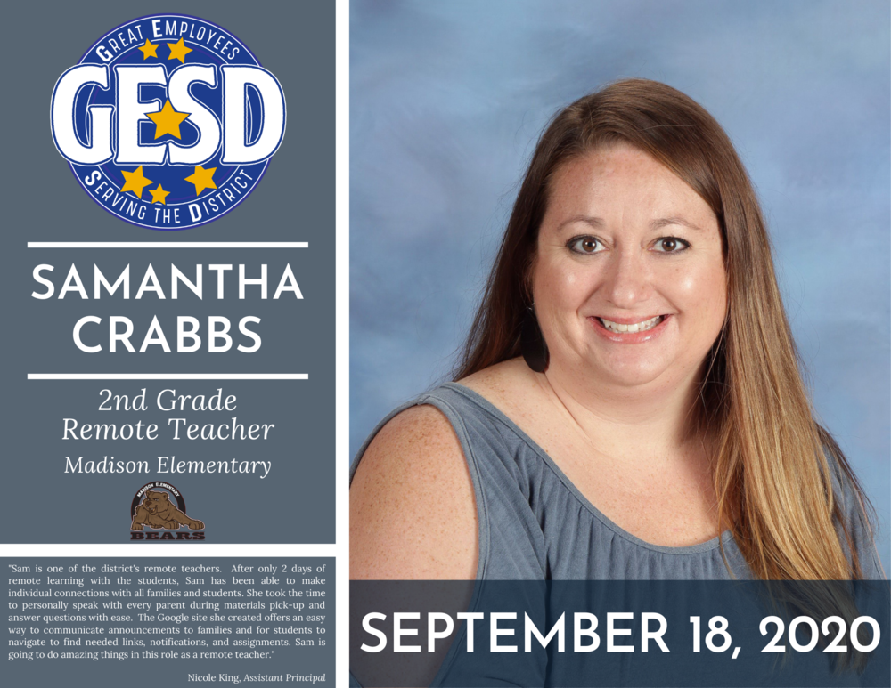GESD Recognition - September 18, 2020