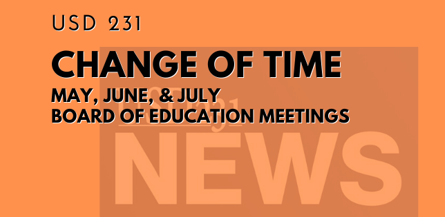 Change of Time - Board of Education Meetings