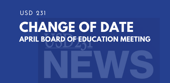 Change of Date - BOE April Meeting
