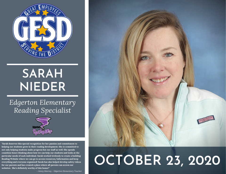 GESD Recognition (October 23, 2020)
