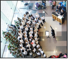 Crown Center welcomes Gardner Edgerton High School choir for holiday performance on Friday, Dec. 6, 2019