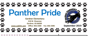 Gardner Elementary September Newsletter