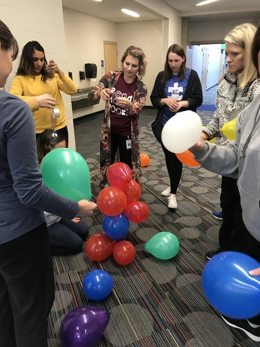 Collaboration building balloon towers