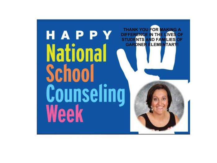 School Counselor Appreciation Week!