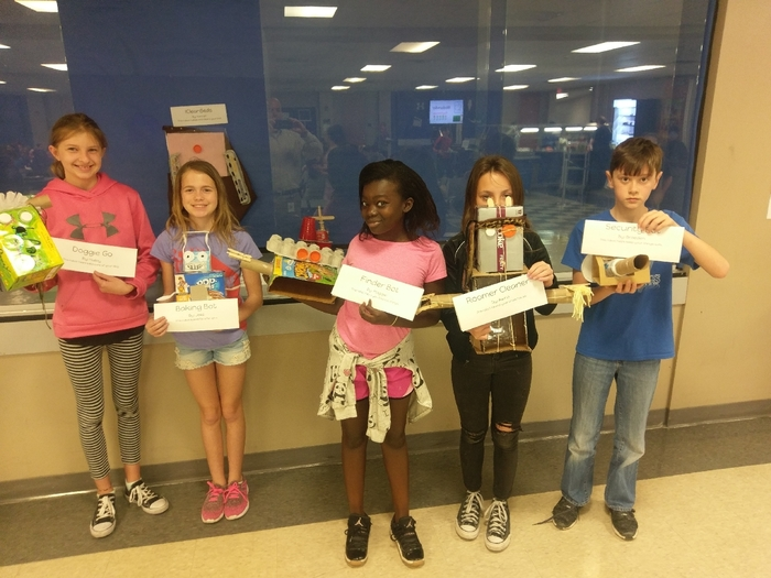 5th gr. junk bot projects