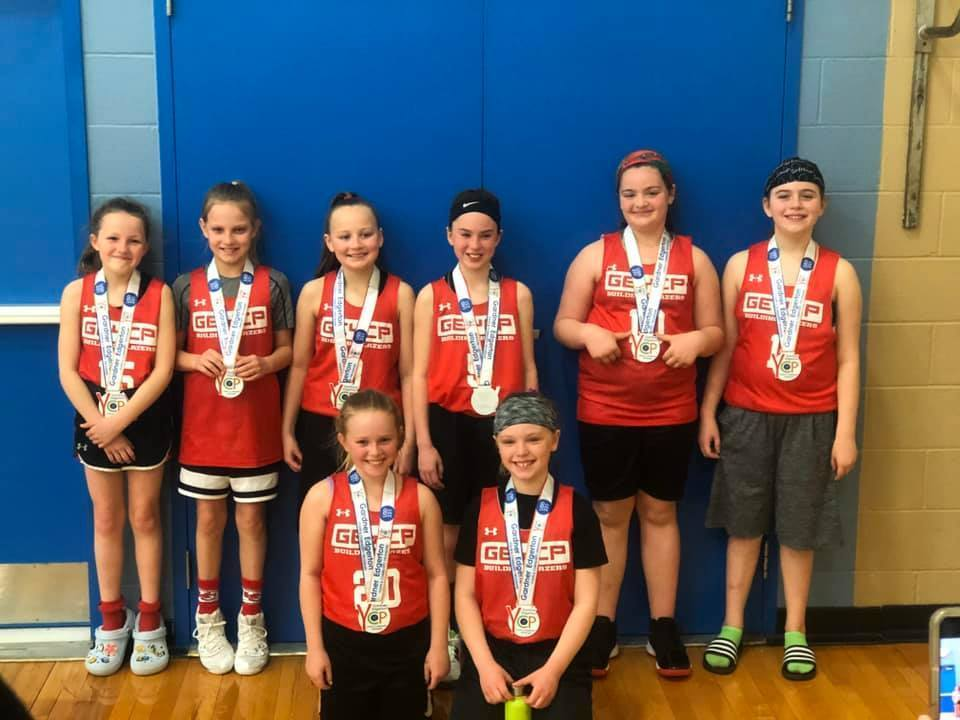 GEYCP Basketball Girls with Medals